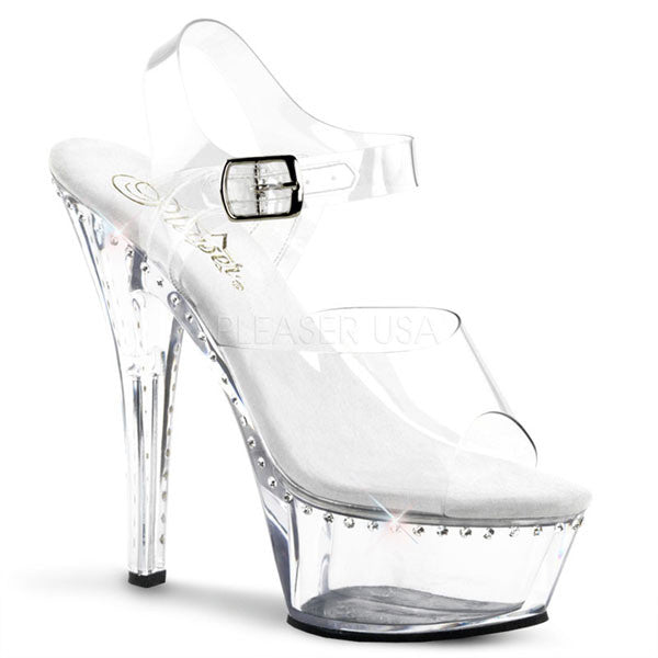 Pleaser KISS-208LS Clear Platform Sandal
