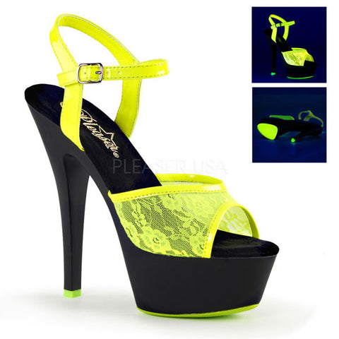 Pleaser KISS-209ML Neon Lace Platform Sandal