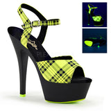 Pleaser KISS-209PL Neon Platform Sandals