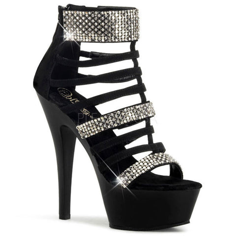Pleaser KISS-294 Suede Cage Strap Heels