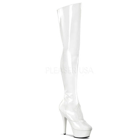 Pleaser KISS-3010 Thigh High Boots