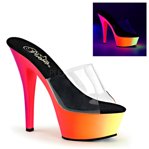 Pleaser RAINBOW-201UV Platform Slide