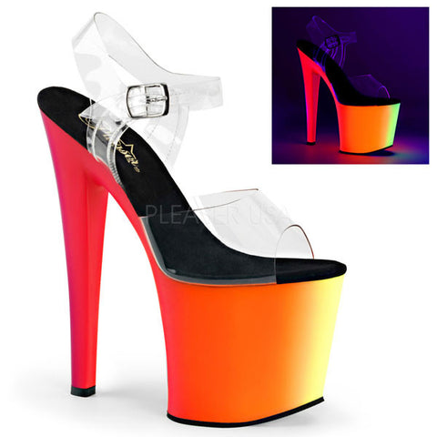 Pleaser RAINBOW-708UV Platform Sandals