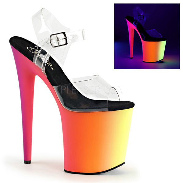 Pleaser RAINBOW-808UV Platform Sandals