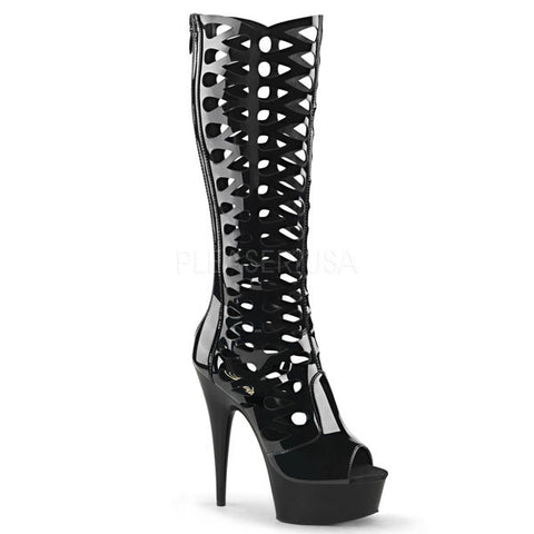 Pleaser DELIGHT-600-42 Cut-out Platform Heel