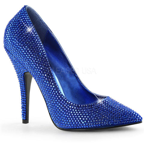 Seduce-420RS Rhinestone Pumps