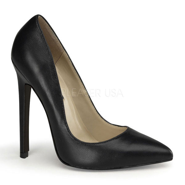 Pleaser SEXY-20 Black Leather Pumps