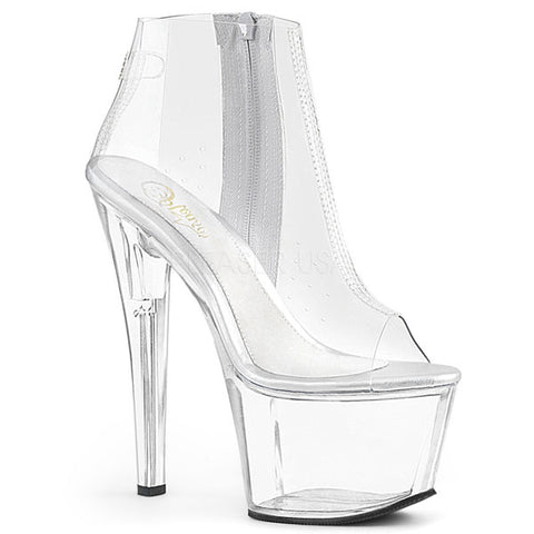 Sky-1023 Clear Platform Ankle Boot