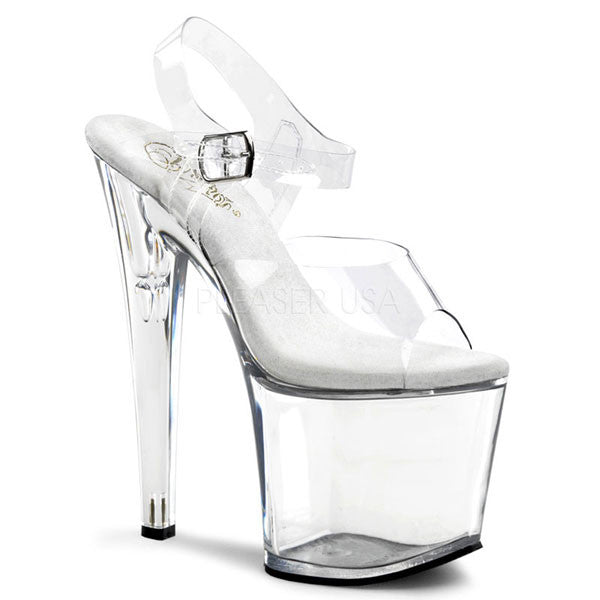 Pleaser TABOO-708 Clear Platform Sandals
