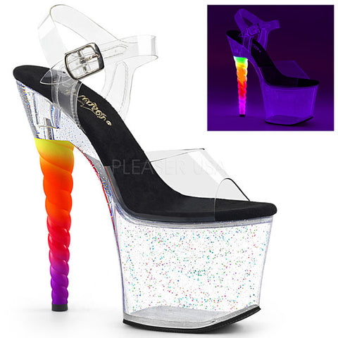 "Unicorn-708MG 7"" Platform Sandal"
