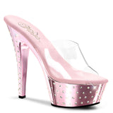Pleaser STARDUST-601 Metallic Platform Slide