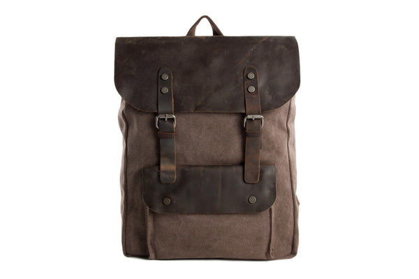 Canvas Leather Backpacks