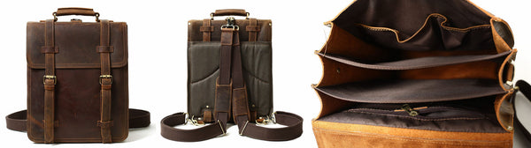 vertical men leather briefcase
