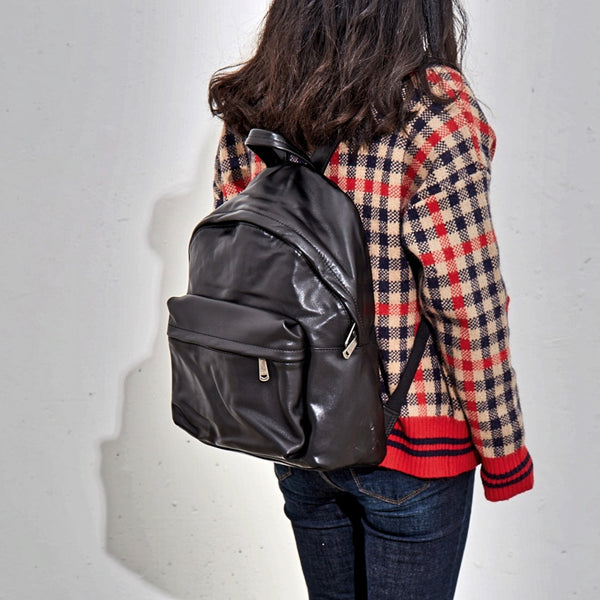 Full Grain Leather Backpack Handmade Backpack Travel Backpack BF633 - ROCKCOWLEATHERSTUDIO