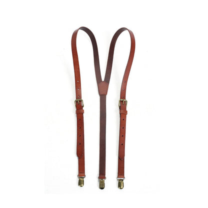 Handmade Leather Suspenders, Groomsmen Suspenders - ROCKCOWLEATHERSTUDIO