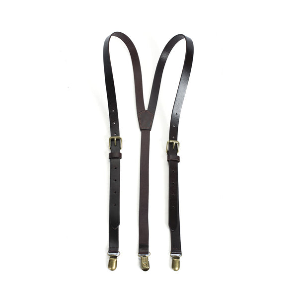 Genuine Leather Suspenders, Groomsman Wedding Suspenders - ROCKCOWLEATHERSTUDIO