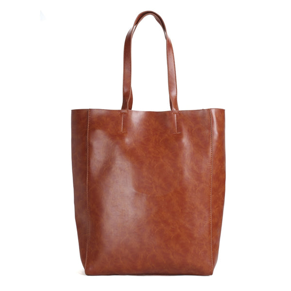 Handmade Full Grain Leather Women's Fashion Tote Handbag, Vintage Shoulder Bag, Shopper Bag 1365 - ROCKCOWLEATHERSTUDIO