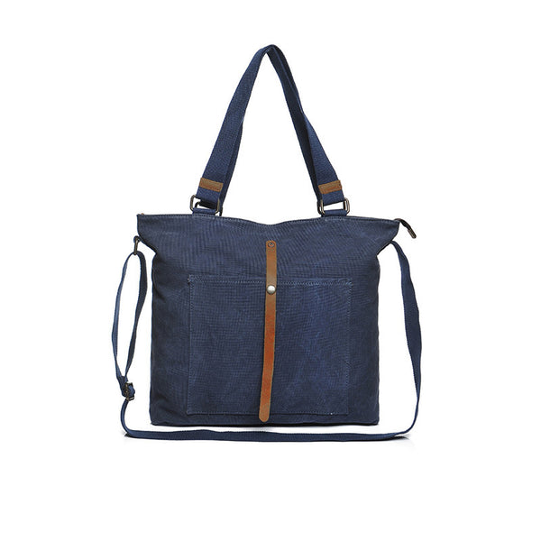 Large Capacity Canvas Tote Bag Canvas Daily Shoulder Bag Vintage Casual Canvas Crossbody Messenger Bag YD2248
