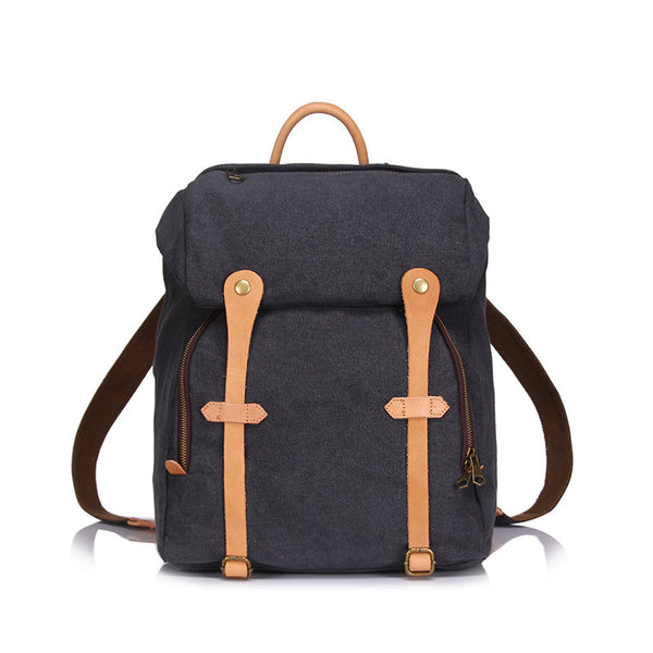 Retro Canvas Travel Backpack Large Capacity Canvas Backpack Men Canvas School Backpack YD1956 - ROCKCOWLEATHERSTUDIO