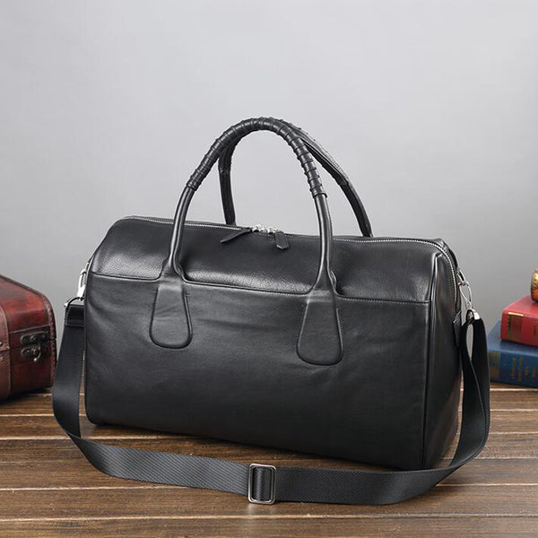 Men Large Weekend Bag Full Grain Leather Travel Bag Business Tote Duffel Bag V180767