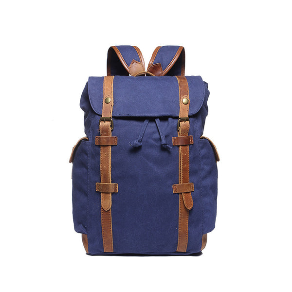 New Large Capacity Canvas Backpack Leather With Canvas Travel Backpack Canvas School Backpack YD2050