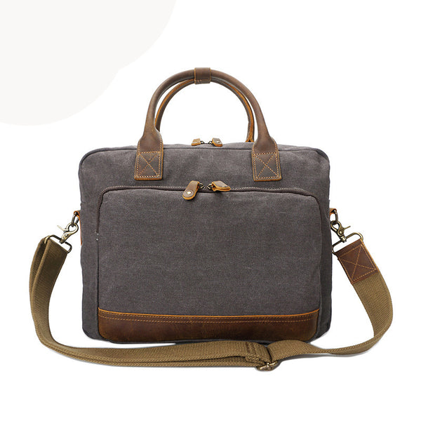 Men Canvas Tote Bag Vintage Shoulder Messenger Bag Men Canvas Briefcase YD3192 - ROCKCOWLEATHERSTUDIO