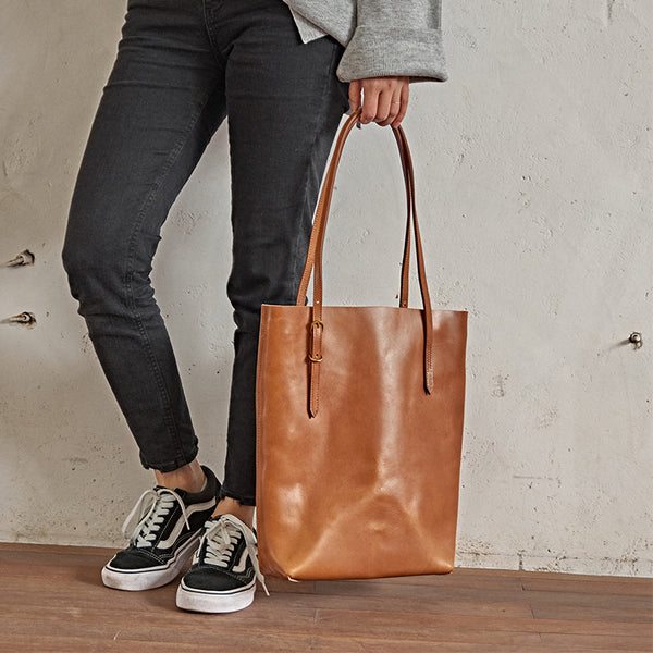 New Arrival Women Everyday Tote Bag Full Grain Leather Shoulder Bag Handbag BF399