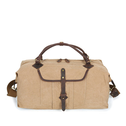 Retro Canvas Travel Bag Large Capacity Canvas Duffel Bag Leather With Canvas Duffle Bag YD2191-1
