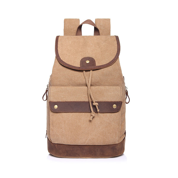 Vintage Canvas Ladies Backpack Canvas Women Canvas Travel Backpack Classic Canvas School Backpack YD6661 - ROCKCOWLEATHERSTUDIO