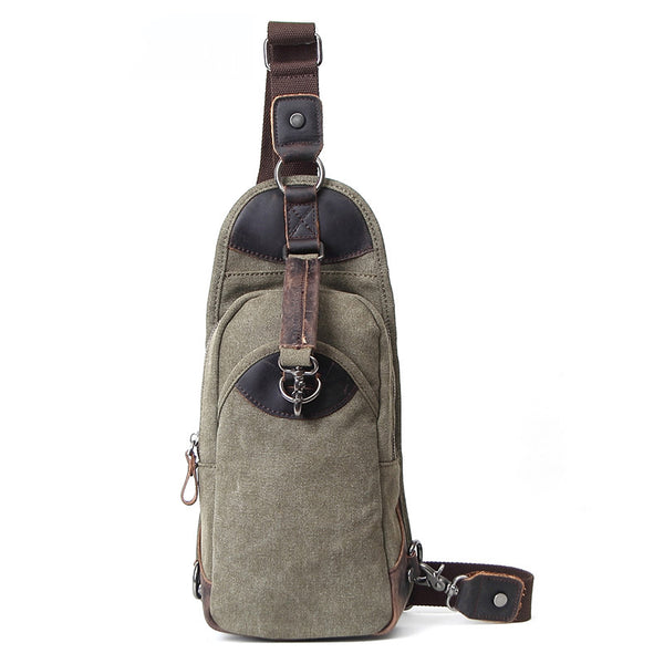 Korean Style Canvas Men Chest Bags Vintage Chest Pack Men Crossbody Sling Messenger Bags 80597