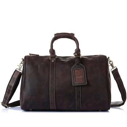 Hot Sale Mens Duffle Bags Top Grain Leather Travel Bag Business Travel Luggage Bag 8016