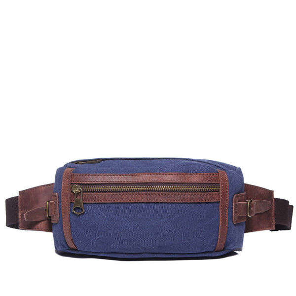 Men Canvas Waist Bag Vintage Men Travel Small Bag Multifunctional Canvas Crossbody Bag YD1990