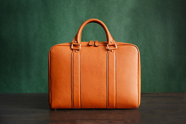 665681455a ... Handmade Tan Brown Leather Laptop Bag