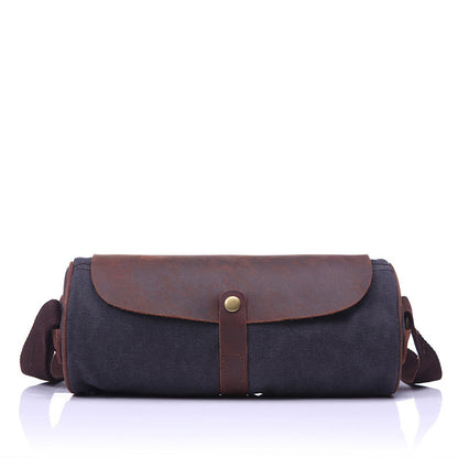 Hot Sale New Design Canvas Leather Men's Wallet Waist Bag, Casual Small Fanny Pack, Canvas Weekender Belt Bag for Men 1982