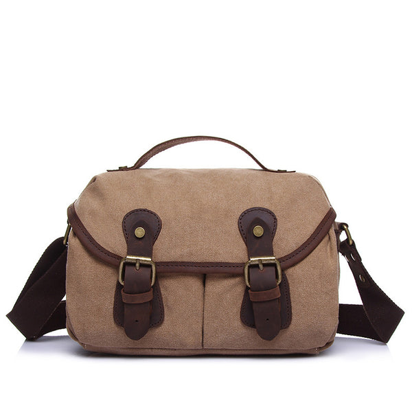 Canvas Men Messenger Bag Retro Men Canvas Shoulder Bag Canvas Satchel For Men YD1902 - ROCKCOWLEATHERSTUDIO