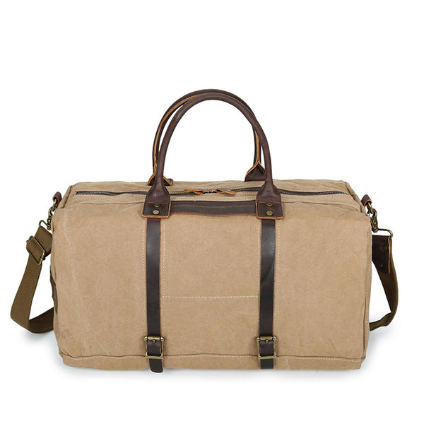 Men Leather With Canvas Duffel Bags Simple Style Canvas Tote Duffle Bags Men Canvas Travel Bag YD2189