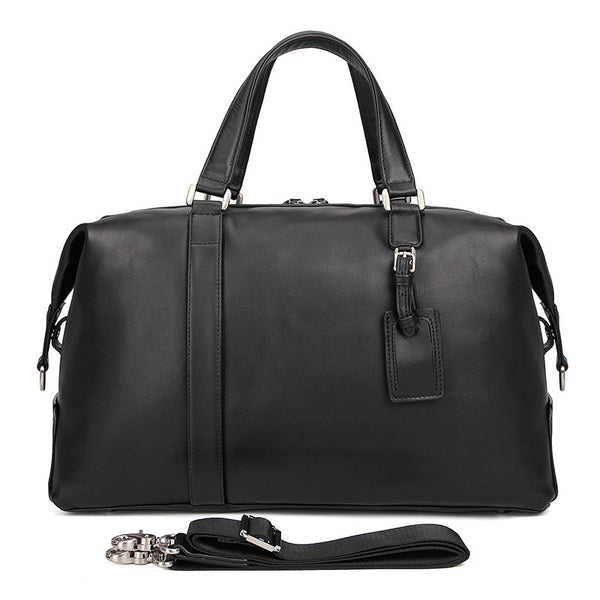 Top Grain Leather Briefcase Travel Duffle Bag Men's Large Handbags 6007A