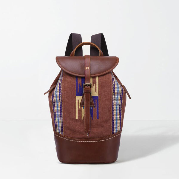 Embroidered Backpack Full Grain Leather Travel Backpack Women Vintage Backpack YD7031 - ROCKCOWLEATHERSTUDIO