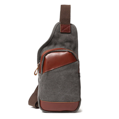 Travelling Canvas Men Chest Bags Vintage Chest Pack Men Crossbody Sling Messenger Bags 80570