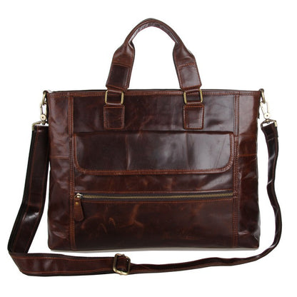 Best Laptop Messenger Bag Briefcase Men Leather Bags Side Bags For Mens 7212