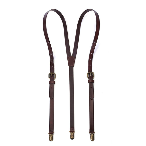 Genuine Leather Suspenders, Groomsmen Wedding Suspenders - ROCKCOWLEATHERSTUDIO