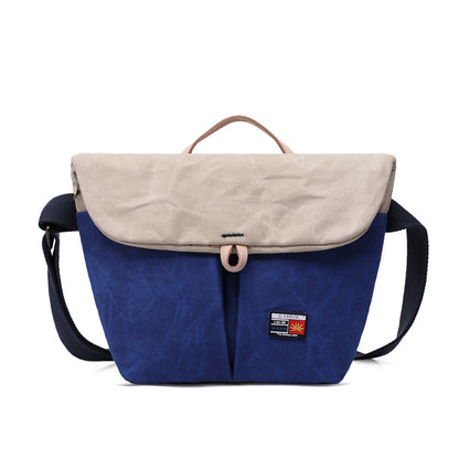 Latest Fashion Handmade Canvas Leather Messenger Bag Crossbody Shoulder Bag Handbag 5272