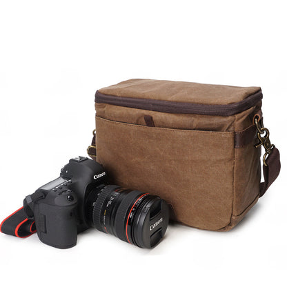 Photographic Hunter Camera Bag Waxed Canvas DSLR Camera Bag Vintage Crossbody Messenger Bag 3191