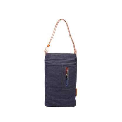 Denim Canvas Shoulder Bag Foldable Canvas Crossbody Bag Women Vintage Canvas Messenger Bag YD3128 - ROCKCOWLEATHERSTUDIO