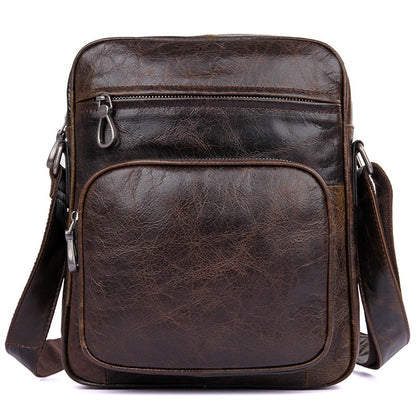 becc9f86d0 Top Grain Leather Messenger Bags Vintage Leather Bags For Men Corssbody  Single Shoulder Bag 1008