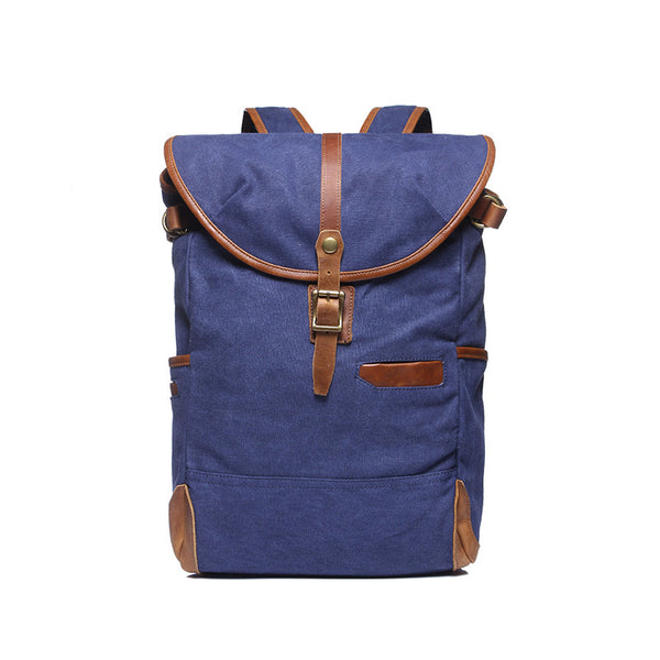 Men Canvas Travel Backpack Vintage Large Capacity Outdoor Backpack Men Casual School Backpack YD2060 - ROCKCOWLEATHERSTUDIO