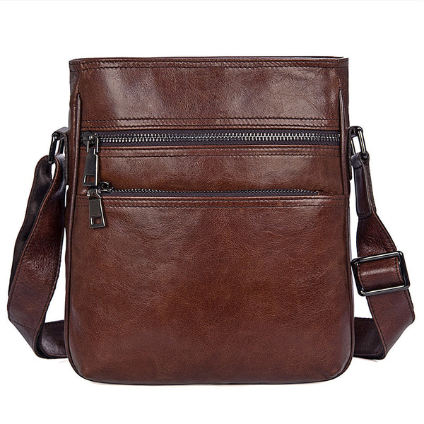 New Fashion Messenger Bags Casual Leather Bags For Men Leather Corssbody Side Shoulder Bag 1025