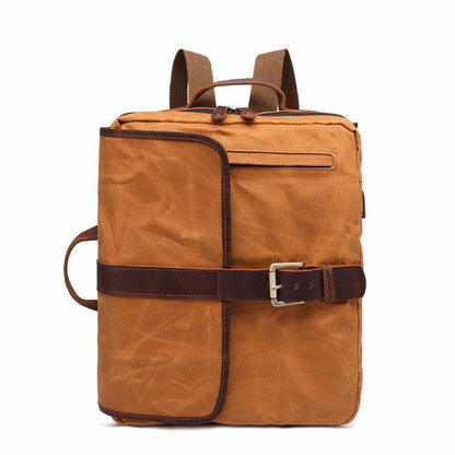 Latest Style Canvas Leather Backpack, Laptop Backpack, Vintage Waterproof Shoulder Bag 5393