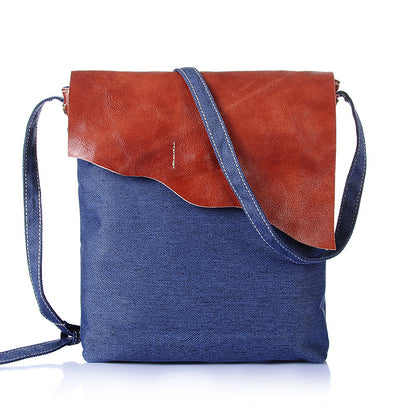 Vintage Canvas Shoulder Bag Simple Style Canvas Messenger Bag Ultralight Canvas Satchel YD1833-1