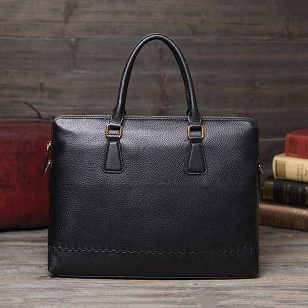 Men Business Tote Bag Full Grain Leather Messenger Bag Shoulder Bag V171037